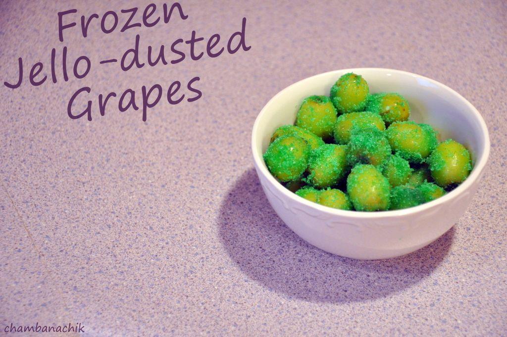 frozen Jello grapes! Hello new favorite summer treat!