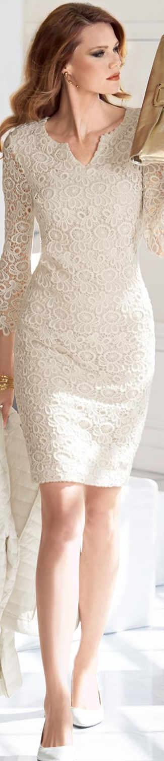 MADELEINE Lace Beige Dress