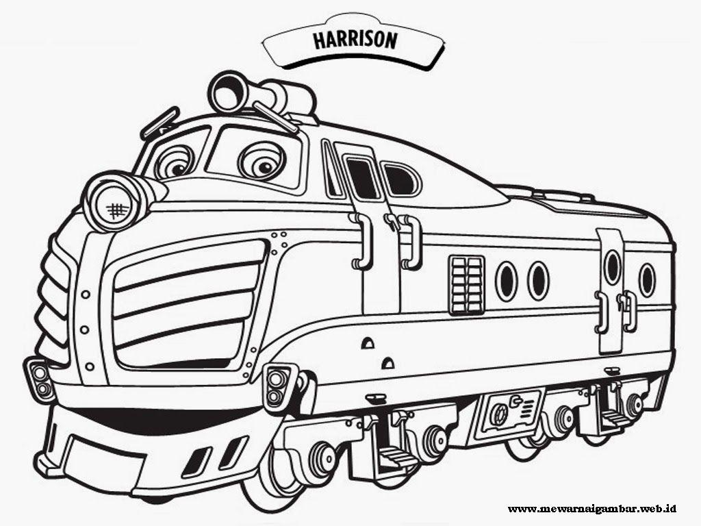 Gambar Mewarnai Kereta Chuggington Gambar Kereta