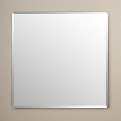 Wade Logan Frameless Wall Mirror & Reviews   Wayfair