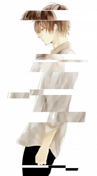 Anime Boy イラスト イケメンイラスト 悲しいアート