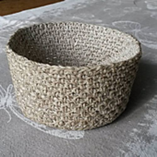 Linen Stitch Crochet Basket Pattern By Sarah Rose Pinterest