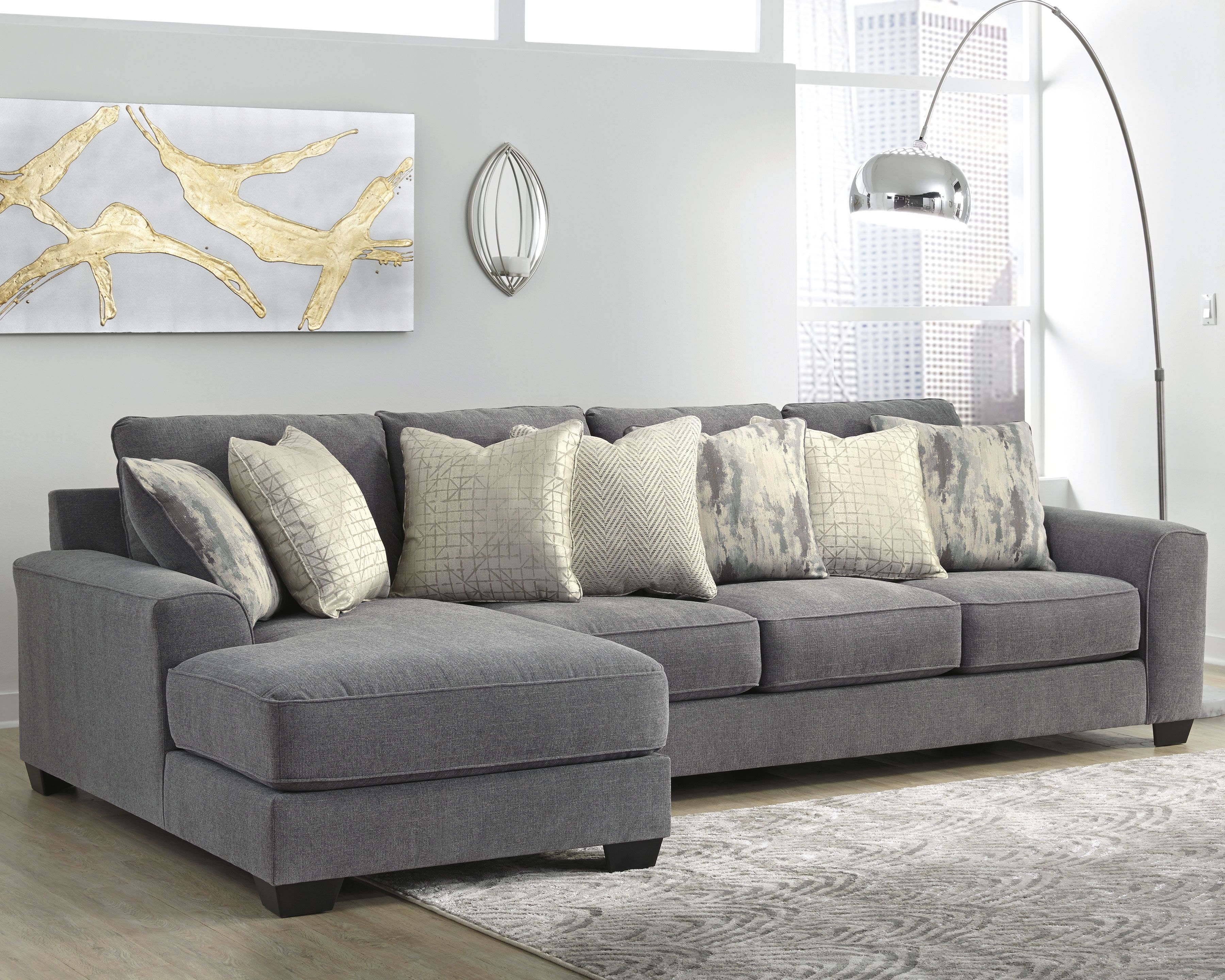 Castano 2 Piece Sectional With Chaise Jewel In 2020