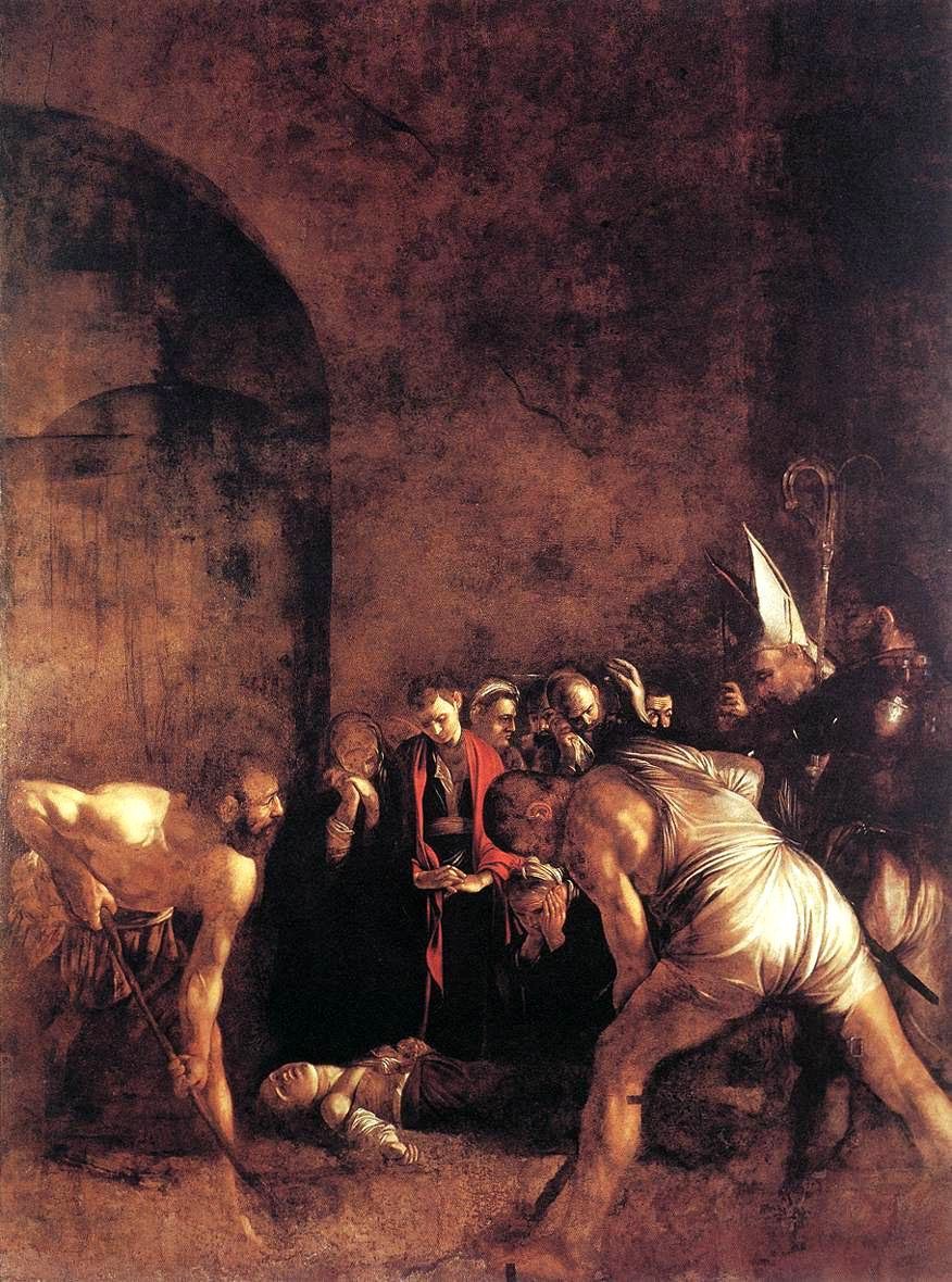 Caravaggio- the burial of Santa Lucia
