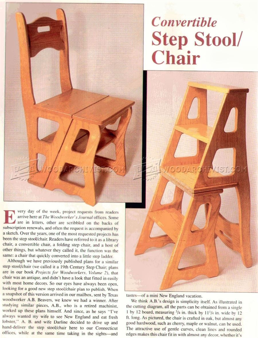2478 Chair Step Stool Plans Furniture Plans Furniture