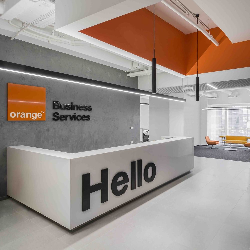 Gallery of orange business services office t t for Office design gallery