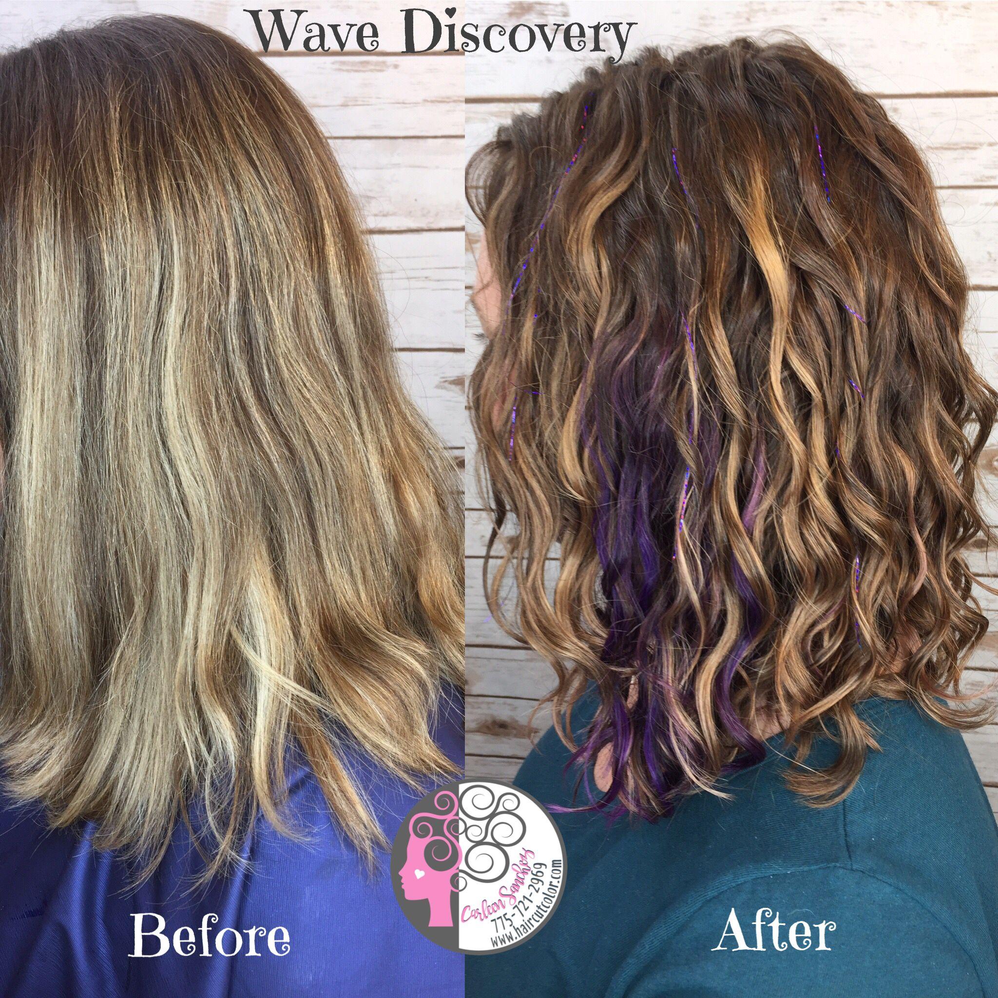 Naturally Curly Purple Panels Highlights Bronde Hair By Carleen Sanchez Nevada S Curl Anti Aging Colo Natural Wavy Hair Haircuts For Curly Hair Wavy Haircuts