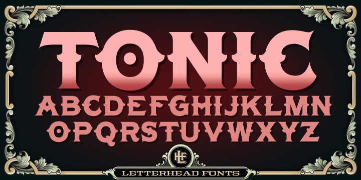 Download LHF Tonic™ - Webfont & Desktop font « MyFonts | Download ...
