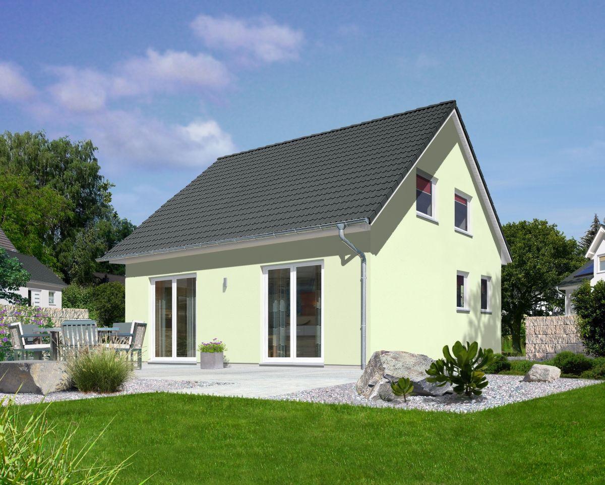 Satteldach Haus klassisch mit Putz Fassade & 4 Zimmer
