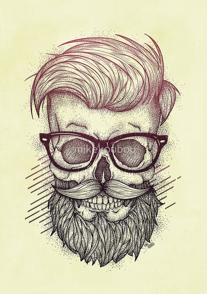 «Hipster is Dead» de mikekoubou | Barba | Pinterest ...