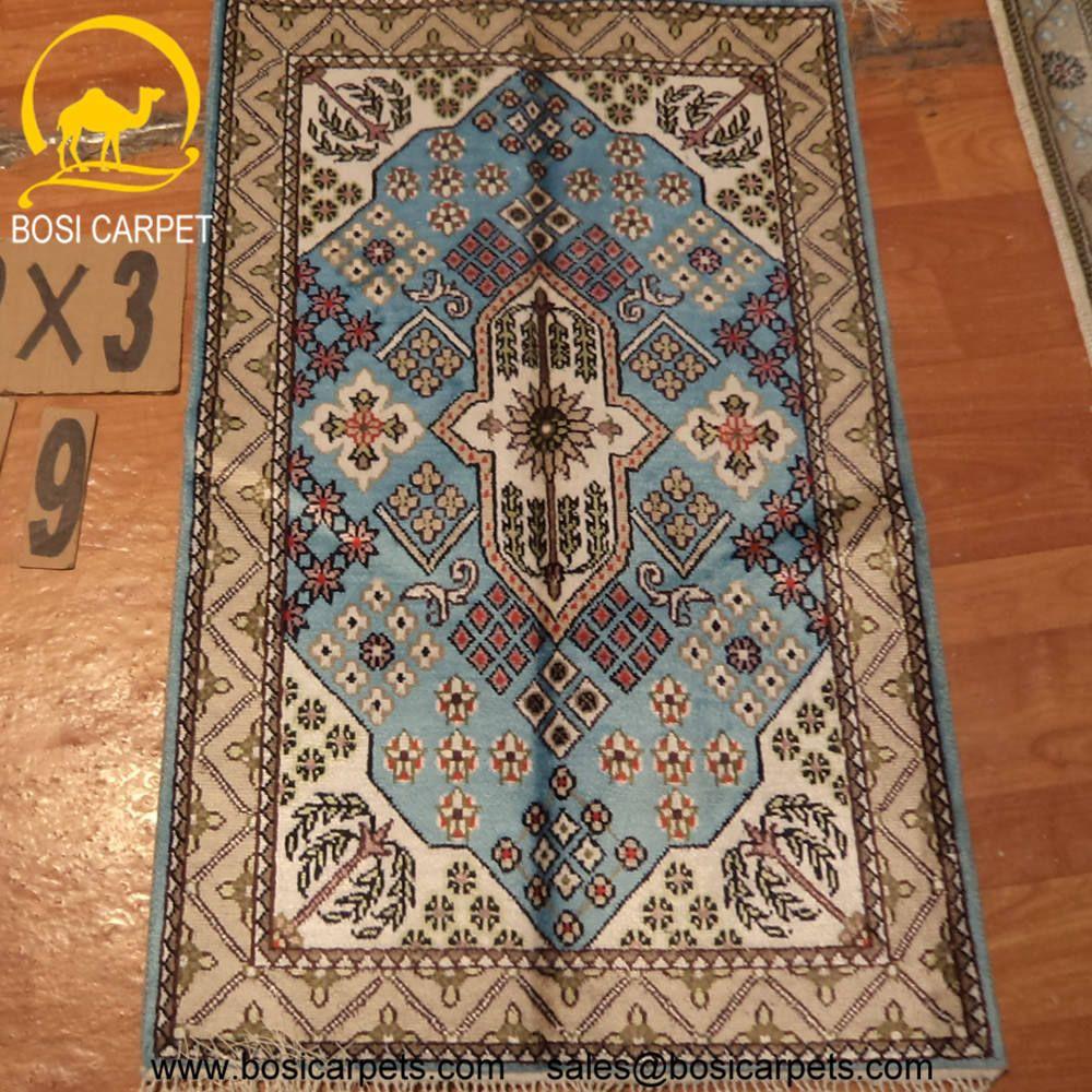 Hand knotted silk rug # Rug No.: P4244  # Quality: 150L (156kpsi) # Size: 2x3ft (61x91cm) # Material: 100% Silk # wholesale Price: $96/piece # If you have any interests, please email to sales@bosicarpets.com        Hand-madecarpet#orienatlrug#oldrug#Kashmirrug#Chinacarpet#Iraniancarpet#boteh#HeratiGul# Isfahan#Tabriz#Qum#Nain#Kashan#Kerman#Bijar#Sarouk#Caucasian#antiquecarpet#bosicarpet
