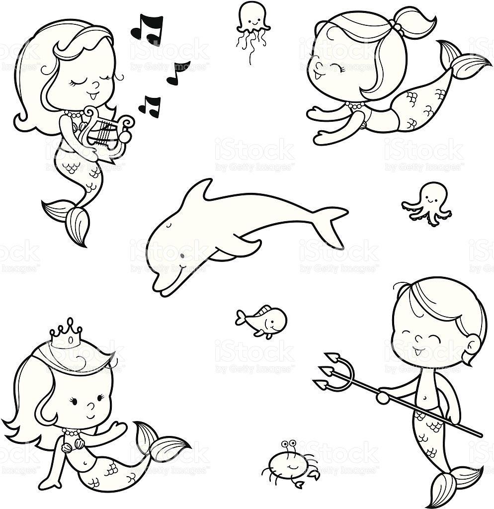 Cute mermaid children and pets. Cute mermaid, Mermaid