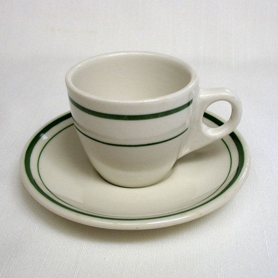 Obsessed with these diner-style cups. Vintage Restaurantware Demitasse Cup and by GoodLookinTreasures $8.00 & Vintage Restaurantware Demitasse Cup and Saucer | Diners Cups and ...