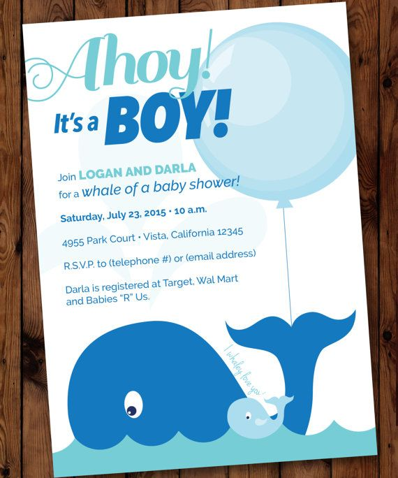 Whale baby invitation whale shower invitation nautical baby shower whale baby shower invitation whale themed by partiesbythebundle filmwisefo Gallery