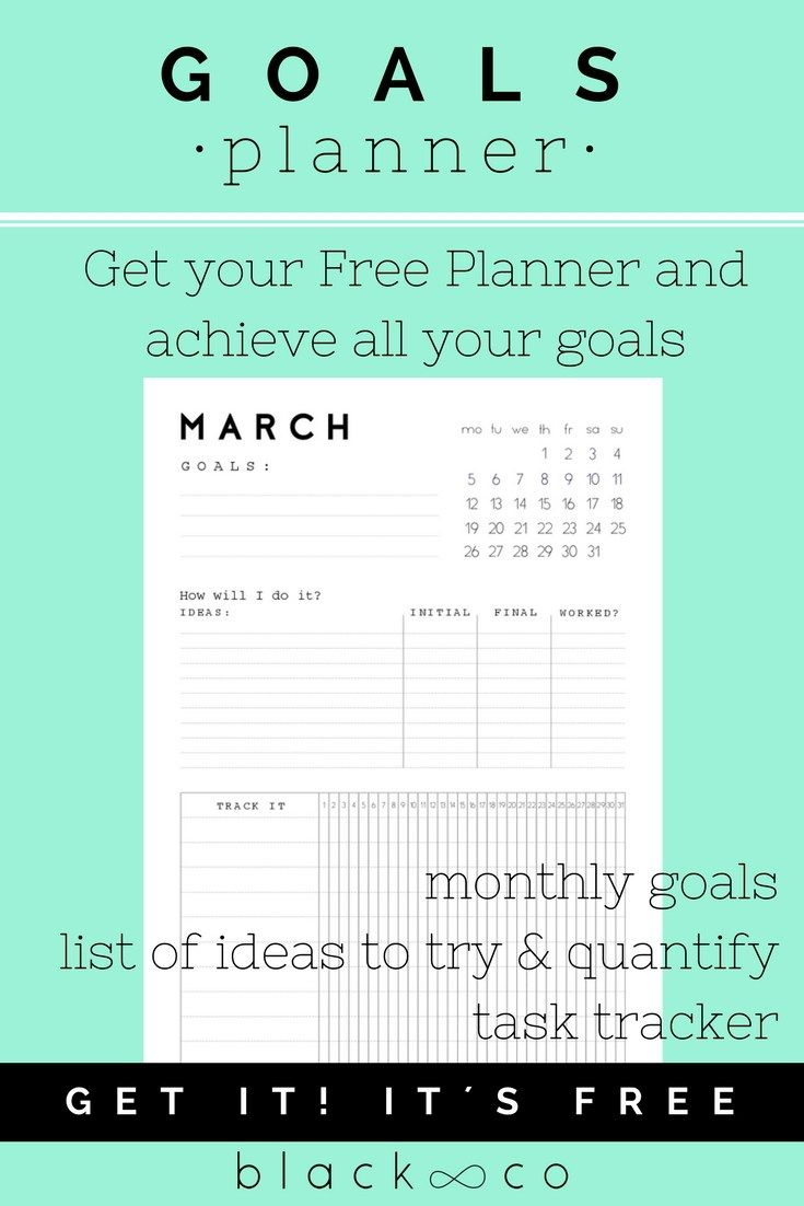 Monthly Goals Planner April  Goals Planner Free Printable And