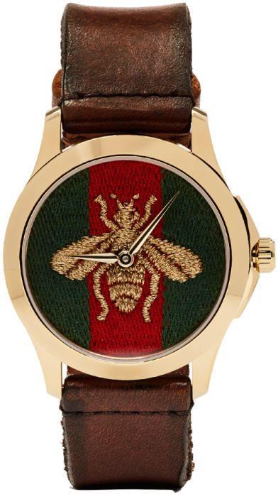 0d3298737c6 Gucci Gold Medium G-Timeless Bee Watch  ad