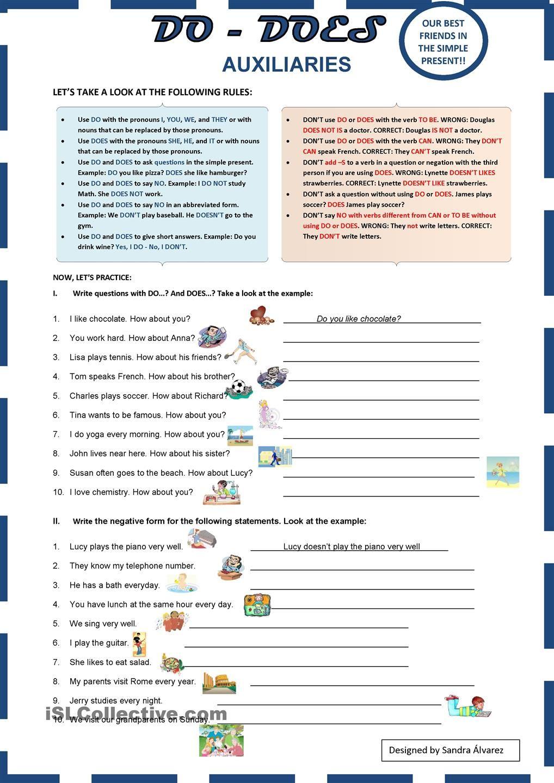 Auxiliaries DO - DOES | NONFICTION | Pinterest