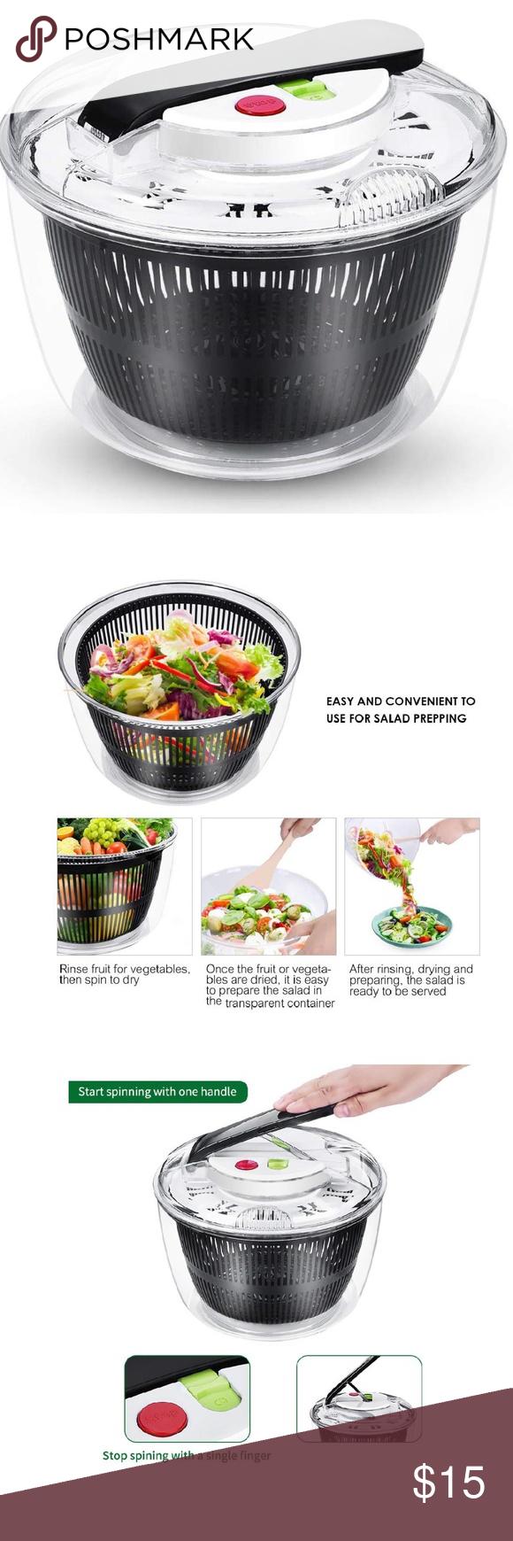New Large Salad Spinner Salad Spinner Fruit Veggie Wash Lettuce Spinner