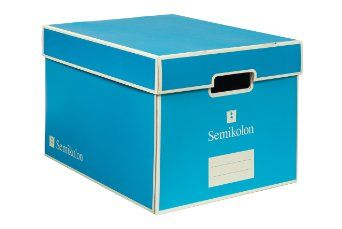 Finally! Colorful storage boxes. Semikolon Bankers Storage File Box on Amazon.com