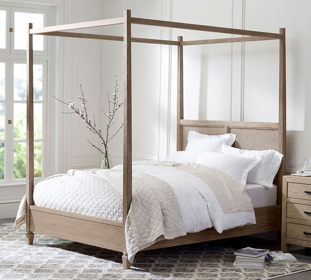 Sausalito Canopy Bed Natural bedroom, Home decor bedroom