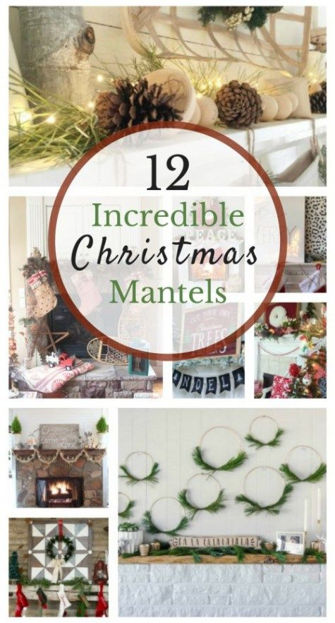 12 Incredible Christmas Mantles at http://intelligentdomestications.com