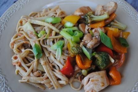 Sweet & Sour Chicken with Sesame Noodles