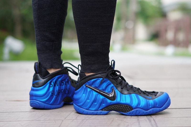 An On Feet Look At The Nike Air Foamposite Pro Hyper Cobalt Nike