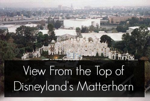 View From The Top Of The Disneyland Matterhorn Disneyland California Adventure Matterhorn Disneyland Disneyland Photos