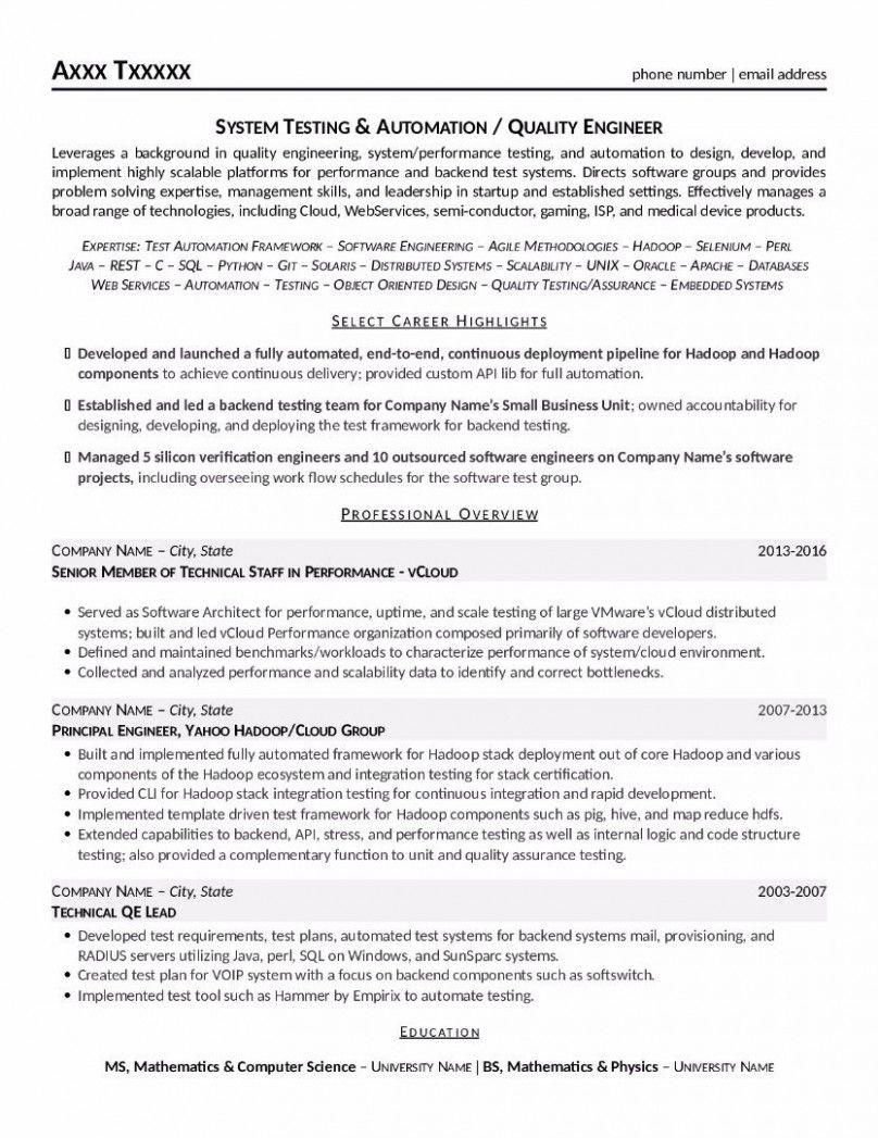 12 Verification Engineer Resume in 2020 Education resume