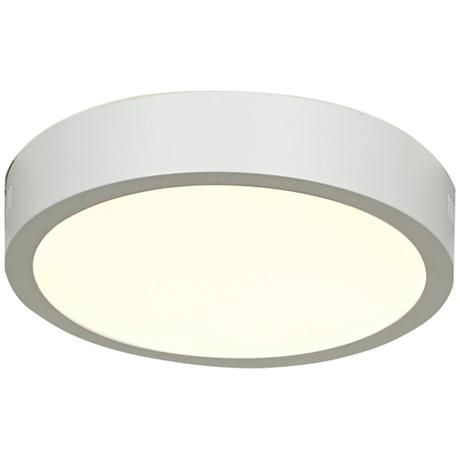 Strike 7 Wide White Low Profile Round Led Ceiling Light 8v225 Lampsplus Com Ceiling Lights Led Ceiling Lights Round Led Ceiling Light