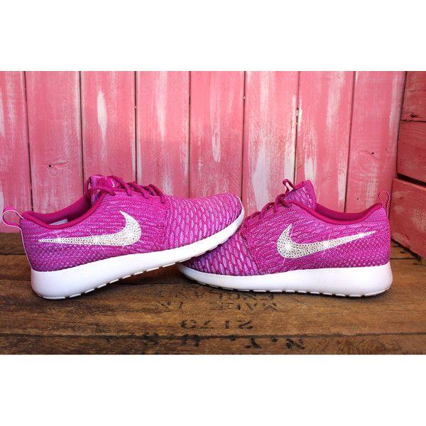 288d5f4da2eb Size 8 Swarovski Nike Roshe Run (One) Flyknit Shoes Pink Customized ...