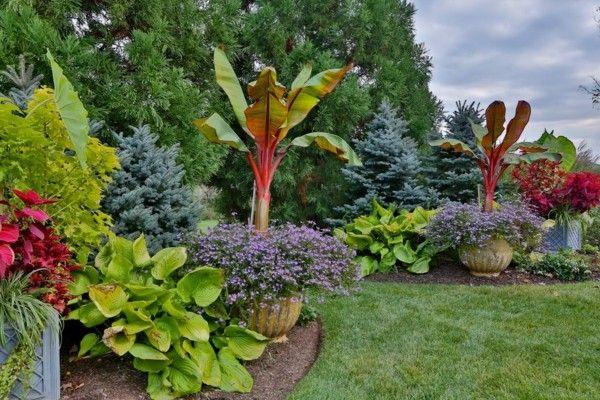 Paisajes naturales en el jardín, deléitese con las vistas