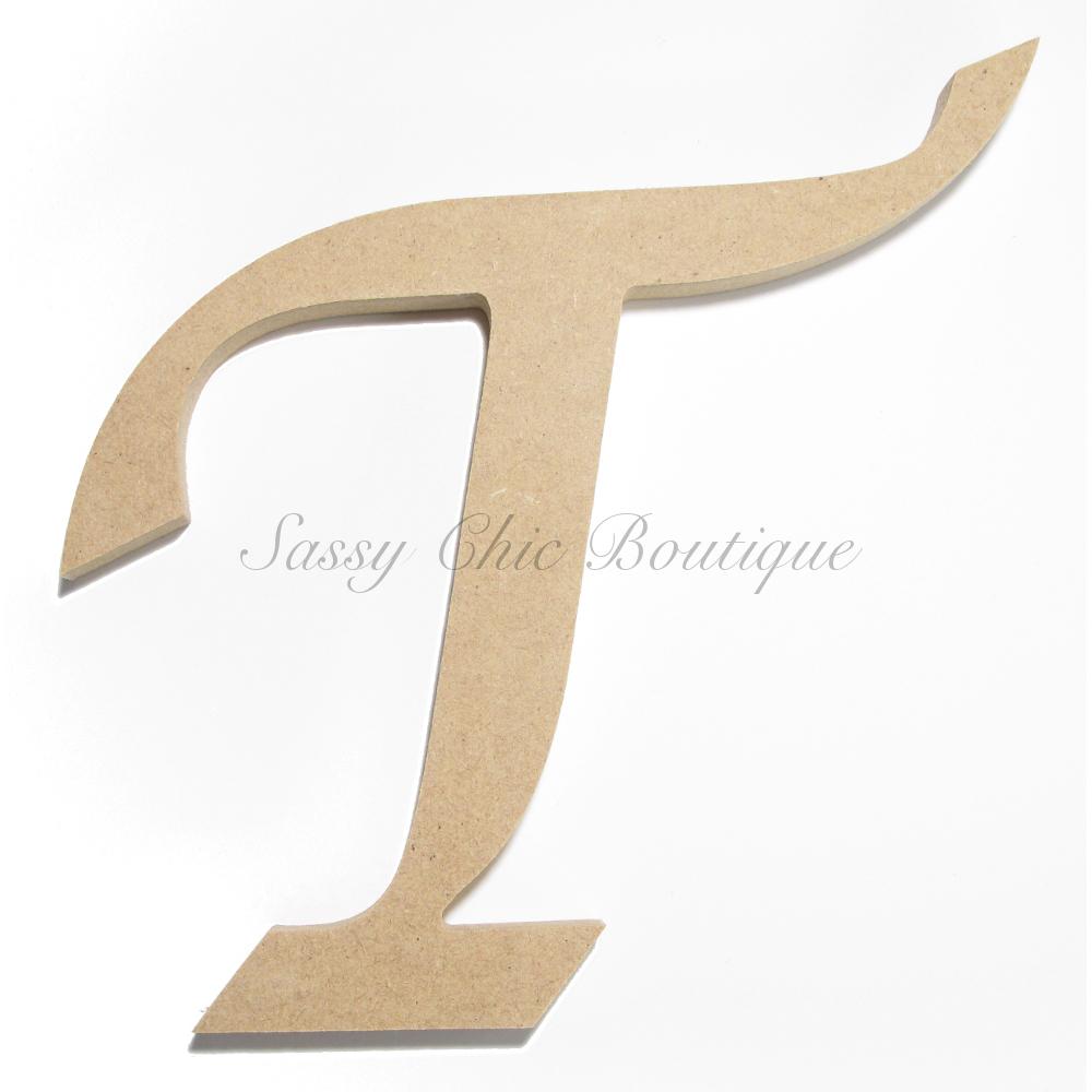 Unfinished Wooden Uppercase Letter T