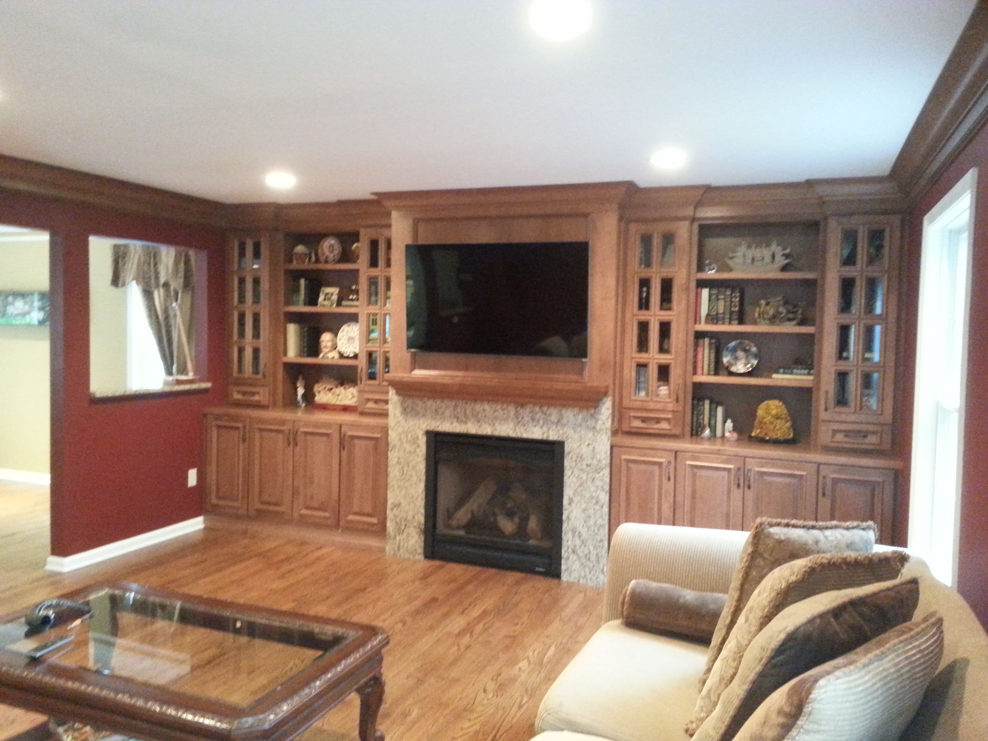 Opened And Closed Storage E Custom Entertainment Centerstorage Es