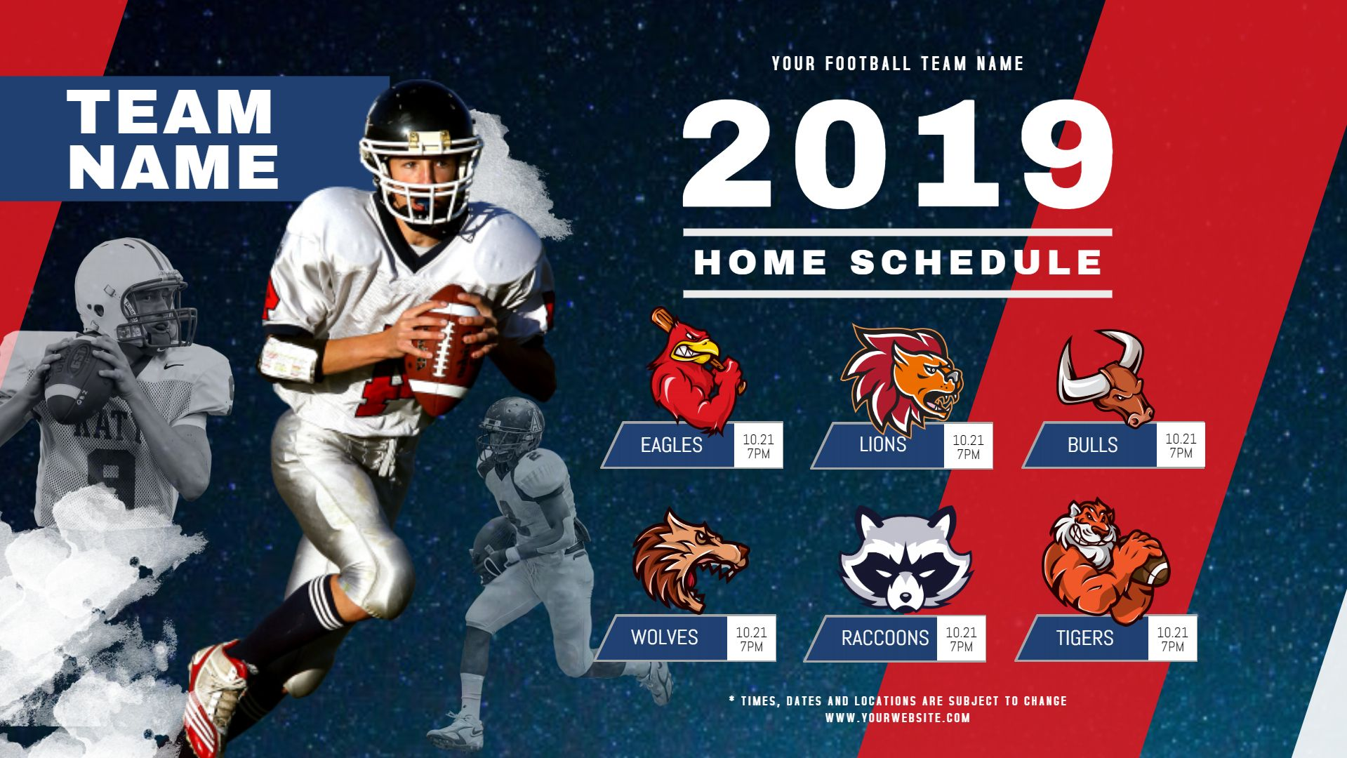 College Football Rugby League Tournament Banner Schedule Football Team Names Football Poster Football