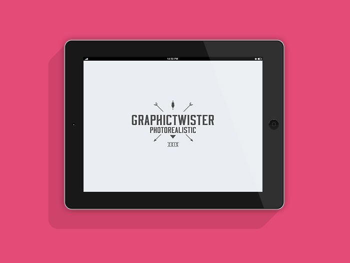 iPad Landscape Flat Mockup | Graphic Twister Photorealistic Mockups ...