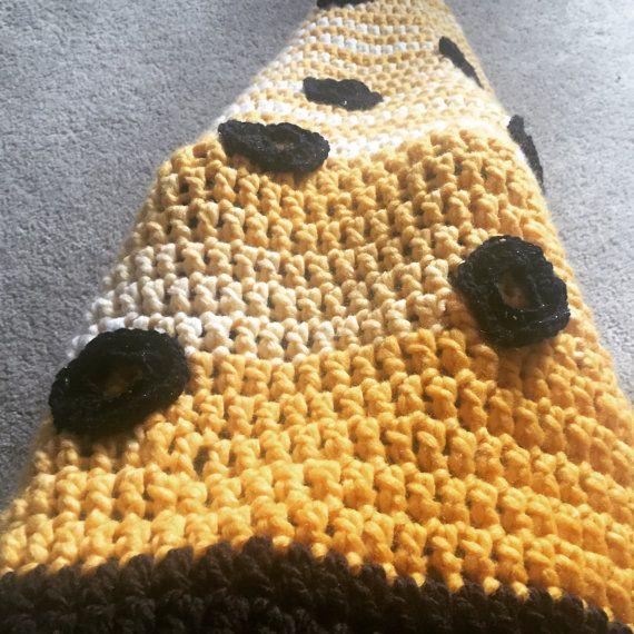 Pizza Crochet Cocoon Food Blanket | Nerds the Word | Pinterest