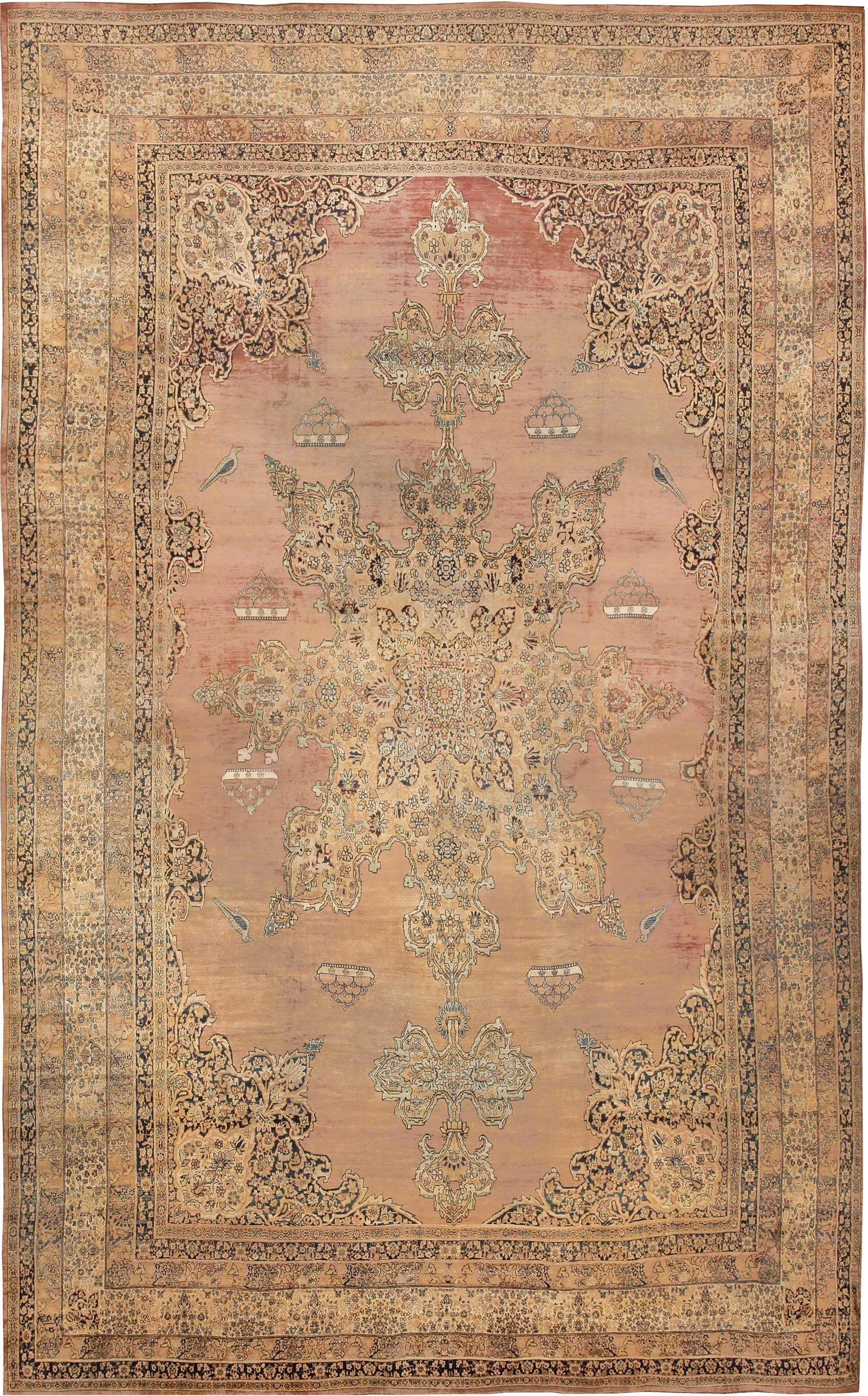 Large Oriental Oversized Antique Kerman Persian Rug 3273