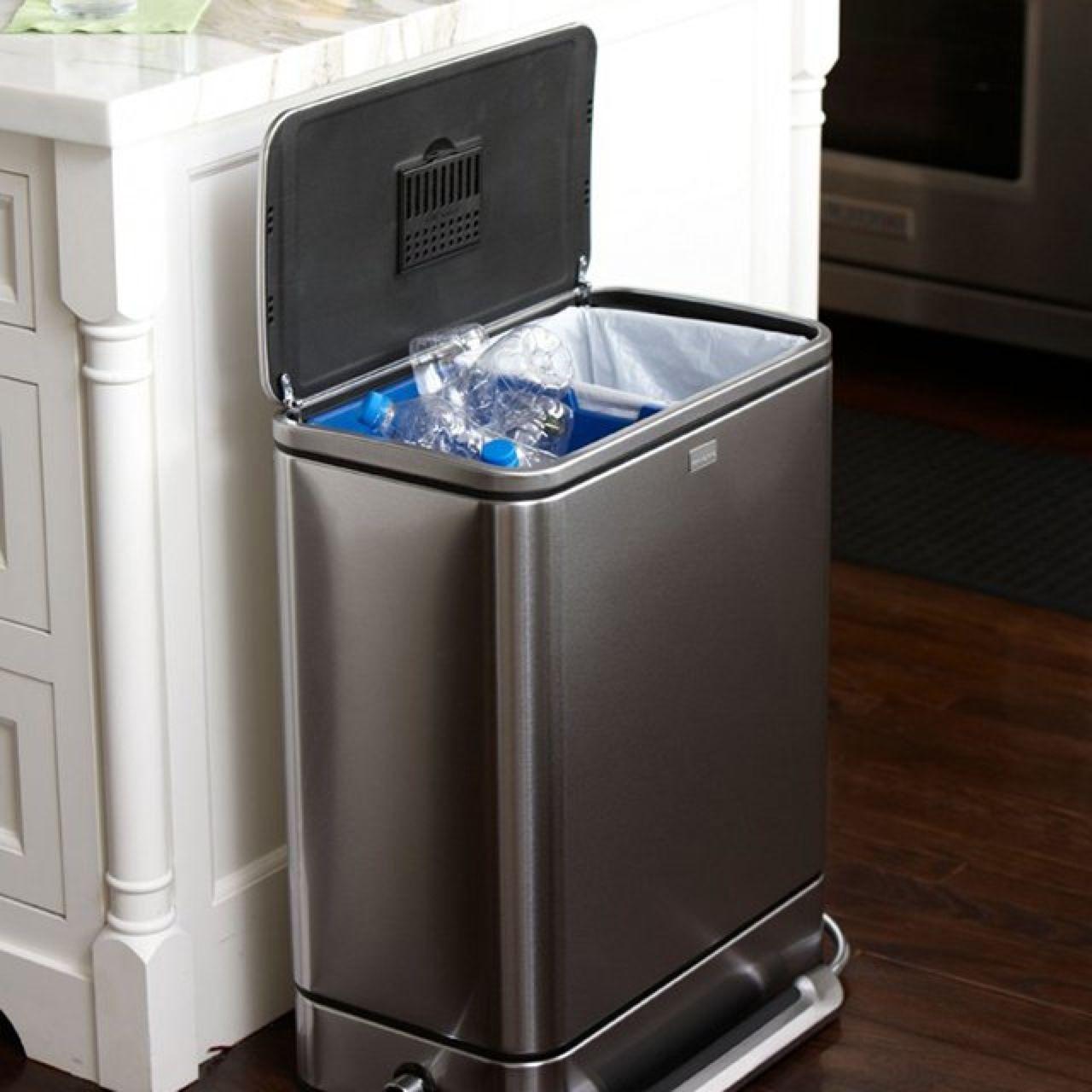 poubelle double compartiment pour tri