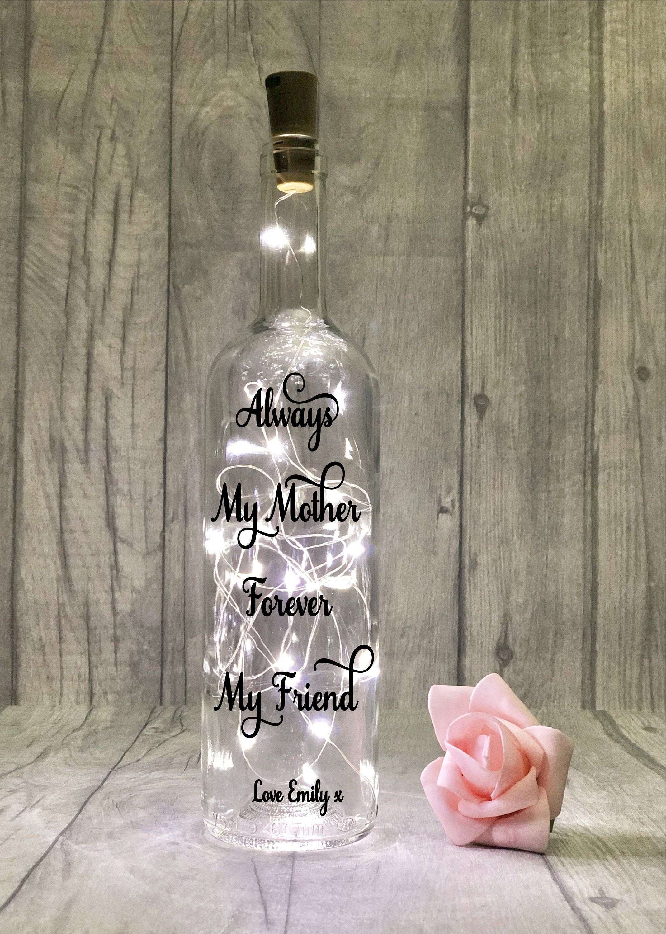 Personalised Mother S Day Gift Wine Bottle Lights Mother Daughter Gift Mum Quote Custom Mommy Present Mom Birthday Christmas Gift Ideas In 2020 Personalized Mother S Day Gifts Mother Christmas Gifts Mother Daughter Gifts