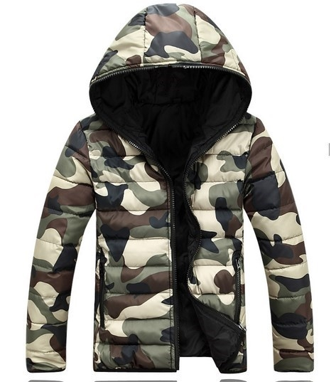 36.64$  Watch here - http://alils2.shopchina.info/1/go.php?t=32758905392 - Brand Korean Man Fashion Warm Parkas Size M-3XL Camouflage Cotton-Padded Style Young Men Winter Camo Down Jackets Hooded  #bestbuy