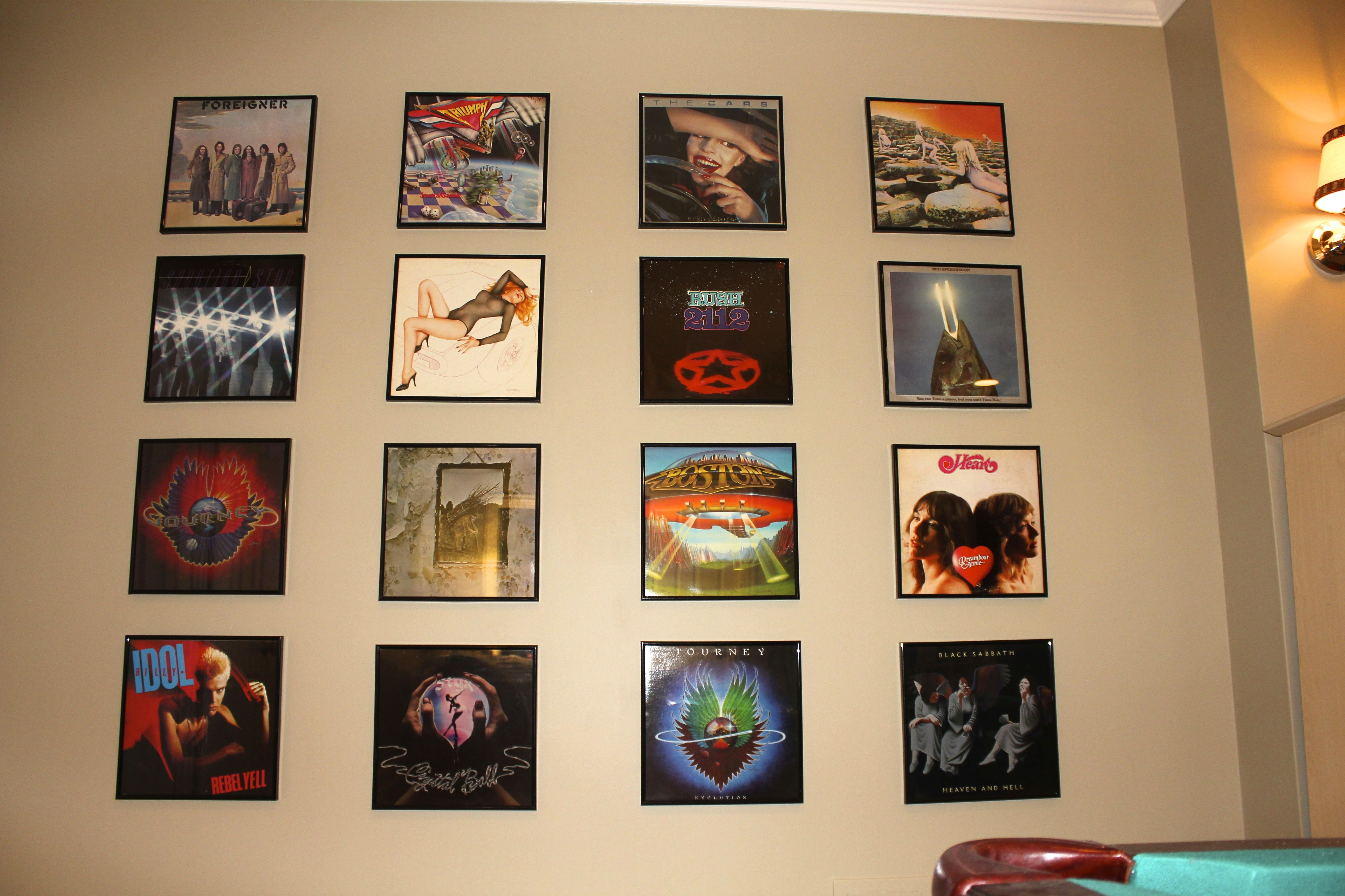 Classic Rock Album Wall Another Shot Lower Angle