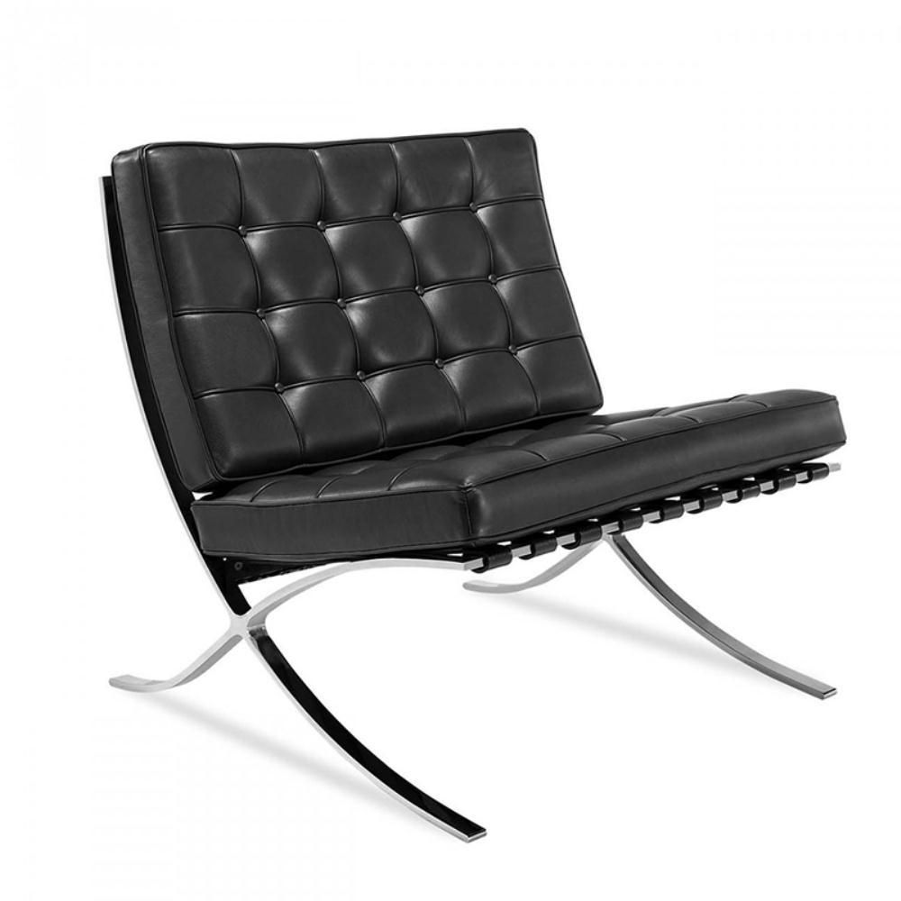 Replica Barcelona Chair Black   Barcelona chair, Leather ...
