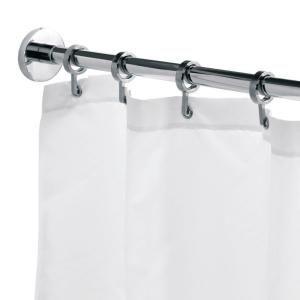 Croydex Round 98 4 In L Luxury Shower Curtain Rod With Curtain Hooks In Chrome Ad116541yw Shower Curtain Rods Luxury Shower Curtain Luxury Shower