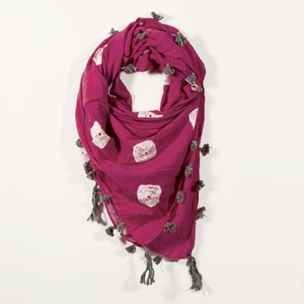 Shibori Square Scarf | Consume With Love Materials: 100% cotton  Fair Trade Sustainable Handmade