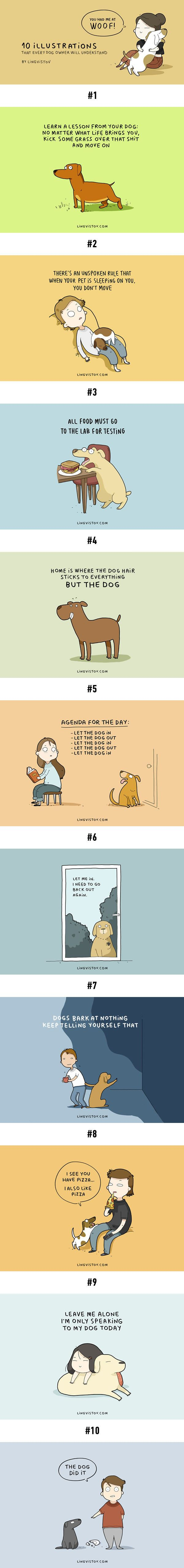 Illustrations Every Dog Owner Will Understand Dog Animal And - 10 funny illustrations every dog owner will relate to