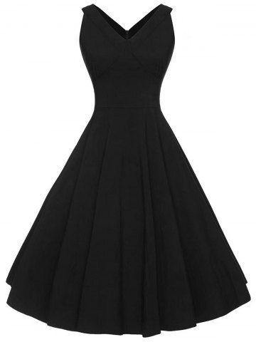Vintage V Neck Sleeveless Dress Vintage Dresses Cheap Cheap Dresses Online Womens Halter Dress