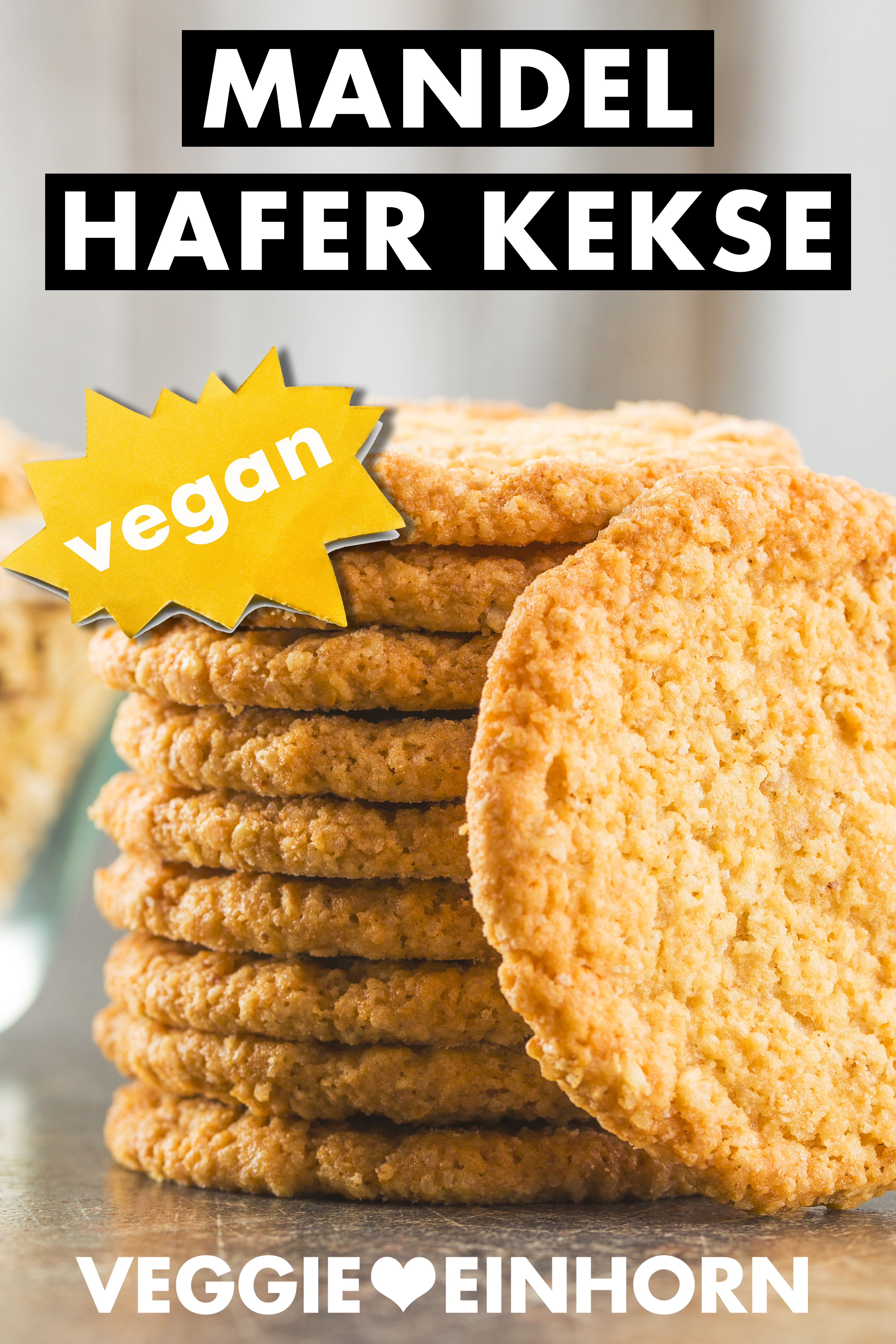 Vegane Mandel Haferflocken Kekse