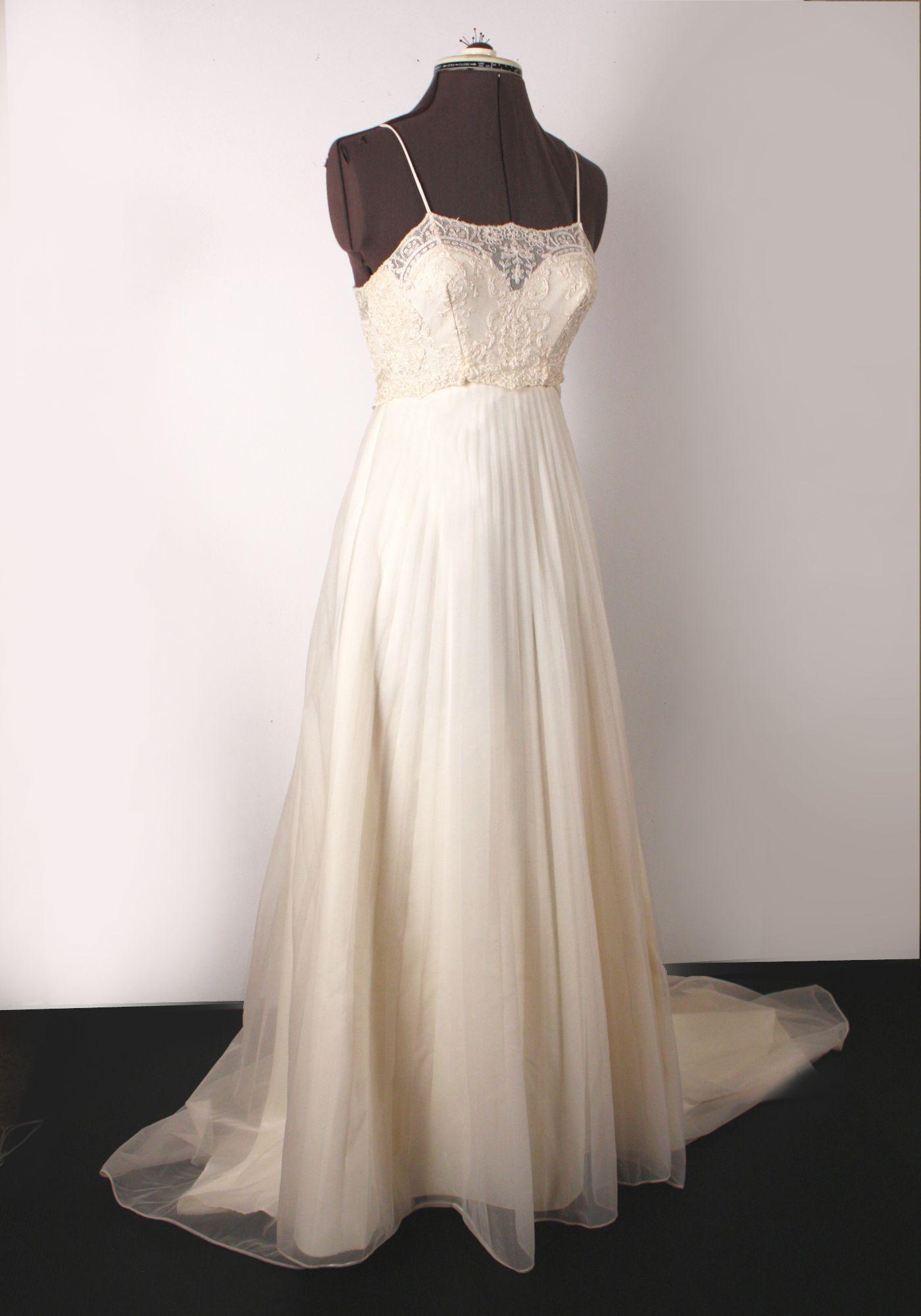 Designer Vintage Alencon Lace Designer wedding gowns