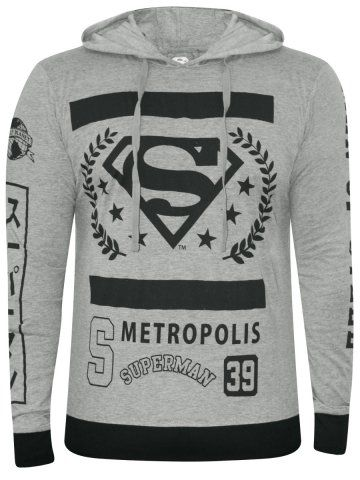 b8fd0233e Superman Grey Mellange Hoodie T-Shirt | Hoodies | Cardigans